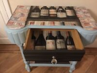 Shabby chic table with drawer