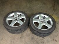 """two Audi 17"""" OEM rims and Tires"""