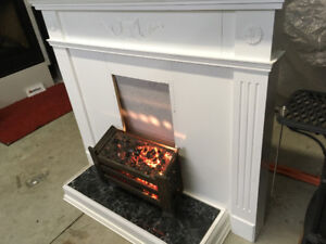 Fireplace Surround Mantle &  Tile Hearth