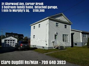 $5000 CASH BACK ON CLOSING. GREAT FAMILY HOME IN CORNER BROOK