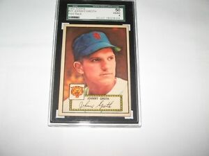 1952 Topps Graded No. 25 Groth, Detroit Tigers (No Creases)