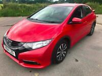 2014 Red Honda Civic 1.6 D-Tech Diesel SE + 5 Dr Hatch FREE 12 MONTH WARRANTY!!