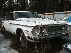 Mopar, Dodge, Plymouth parts cars and project cars