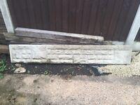 Single Concrete gravel board. REDUCED