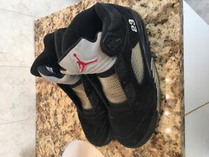 Jordan V 2011 Black/Metallic Worn, 11.5 only $100.