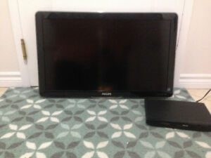"Philips 32"" LCD t.v with matching DVD player"