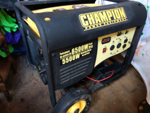 Champion generator with electric start