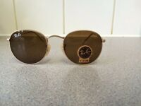 Ray Ban Round Metal Sunglasses RB3447 (gold frame/brown lens)