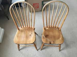 4 BEAUTIFUL wooden chairs.