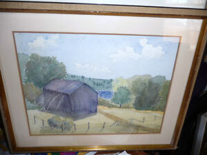 Co-Worker with Group of Seven,T. W. McLean, Original Watercolor Stratford Kitchener Area image 1