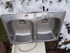 Priced to sell quick! stainless steel double sink