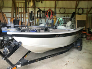 16' Starcraft fishing boat for sale.