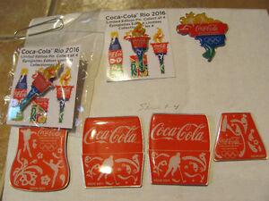 Pins de Coke sur les olympiques