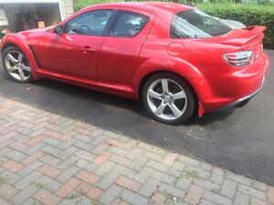2004 Mazda RX-8 cuir noir et rouge Coupé (2 portes)