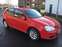 0707 Volkswagen Golf 1.6 FSI ( 115PS ) Match Red 5 Door 70296mls MOT 12m