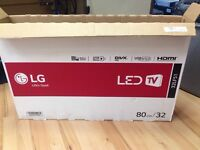 Lg 32inch tv slim with boxed and 2 month warranty