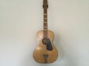 Vintage Parlor Acoustic Guitar