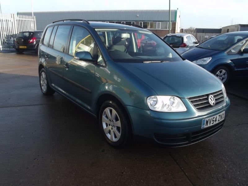 volkswagen touran 1 9tdi 103bhp 7st s 2004 green met 132 000 miles fsh in shipston. Black Bedroom Furniture Sets. Home Design Ideas