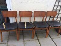 Mid Century Teak chairs