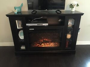 Dark Expresso Electric Fireplace Entertainment Unit