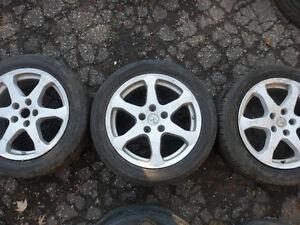 "17"" Infiniti 5 Bolt Goodyear Rims Tires"