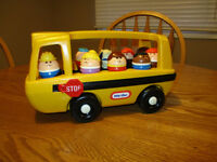 Little Tikes School Bus   Includes 8 children, driver, and dog.
