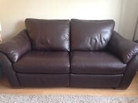 Double recliner 3-seater leather sofa IKEA