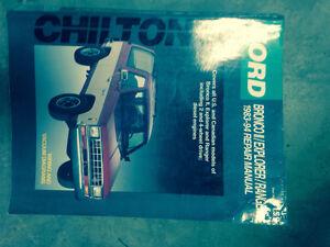 Bronco II  ford ranger explorer manuals and sunvisor