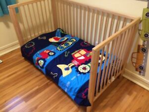 Solid beech crib and toddler bed with Mattress