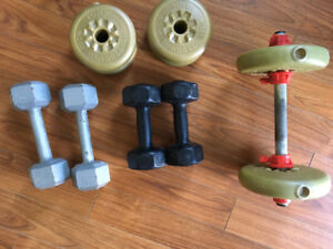 Weight and dumbells