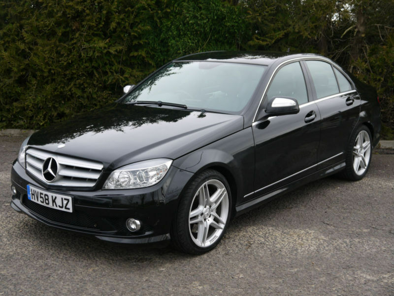 mercedes benz c320 3 0 amg tronic 320 cdi sport c class 220bhp black sports car in didcot. Black Bedroom Furniture Sets. Home Design Ideas