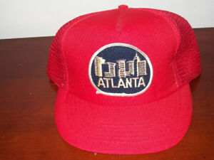 Snapback vintage  trucker hat cap red atlanta