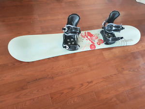 Morrow Snowboard, Bindings & Boots- Size 8