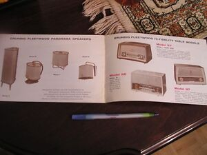 Vintage brochure- Grundig Fleetwood Self-Contained Stereo West Island Greater Montréal image 6