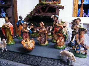 NATIVITY SET AND STABLE MADE IN ITALY London Ontario image 1