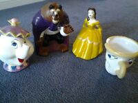 BEAUTY & THE BEAST, Teapot & Chip the TEACUP...hand made ceramic
