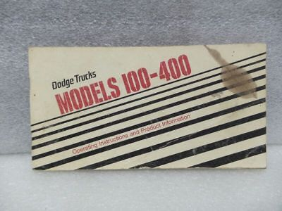 DODGE TRUCK 100 200 300 400 1977 Owners Manual 16526