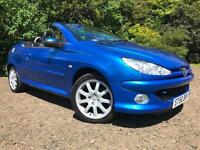 *12 MTHS WARRANTY*ONLY 44K FSH*PEUGEOT 206 1.6 CONVERTIBLE LIMITED EDITION*