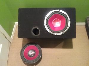 """Subwoofer SonyXplod 10"""" avec ampli et tous les cables"""