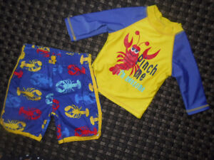 Baby Swimset with Rash Guard - 12 - 18 months