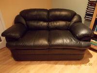 Sofa en cuir noir