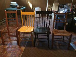 Chaises vintages