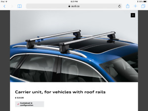 Roof rails carrier unit for Audi Q5 and Q3