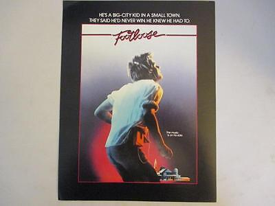 "Original Movie Theater Lobby Card ~ ""Footloose"" Kevin Bacon Lori Singer"