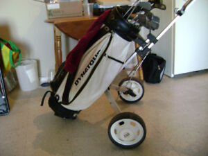 Full set of PGA Golf Clubs with pull cart