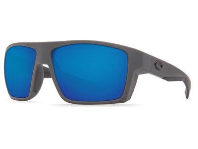 NEW Costa Del Mar BLOKE Matte Gray & Black / 580 Blue Mirror Plastic - Matte Black 580 Blue Mirror