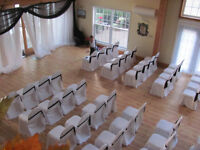 Chocolate brown chair sashes