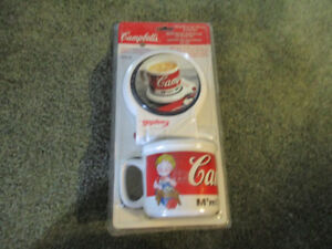 Campbell's soup mug and warming plate new