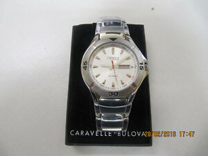 Classic Caravelle Bulova Mens Stainless Steel Watch New In Box