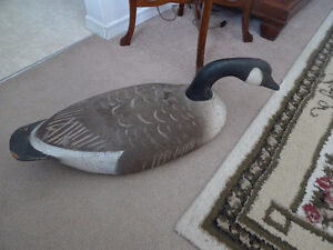 Large Hand Carved Canada Goose Decoy